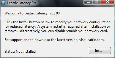 Schermata di installazione del software Leatrix Latency Fix