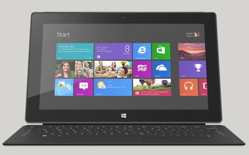 Immagine del tablet Microsoft Surface