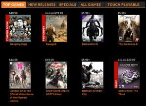 Immagine del sito OnLive per giocare online