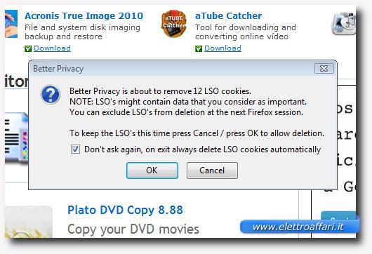 Immagine del plugin BetterPrivacy per Firefox