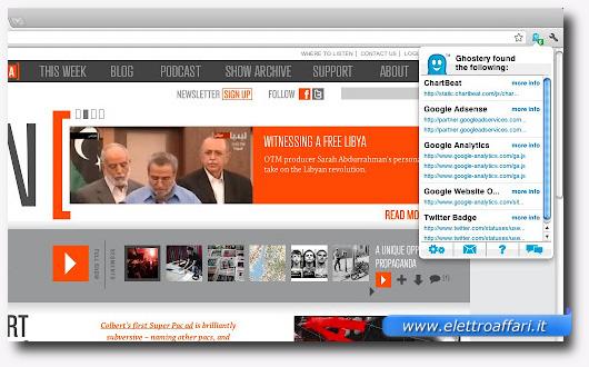 Immagine del plugin Ghostery per Firefox