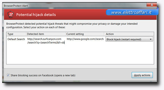 Immagine del plugin BrowserProtect per Firefox
