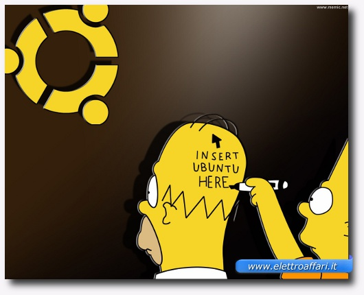 Immagine simpatica di Ubuntu con i Simpson