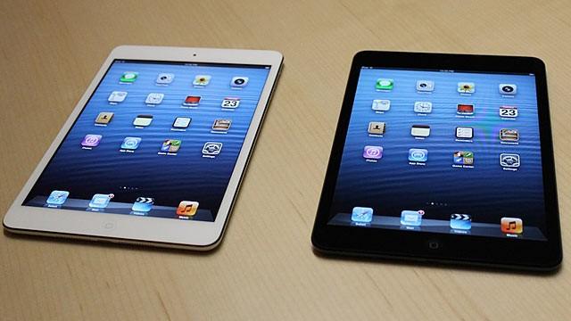 Immagine dei due tipi di colori di iPad Mini