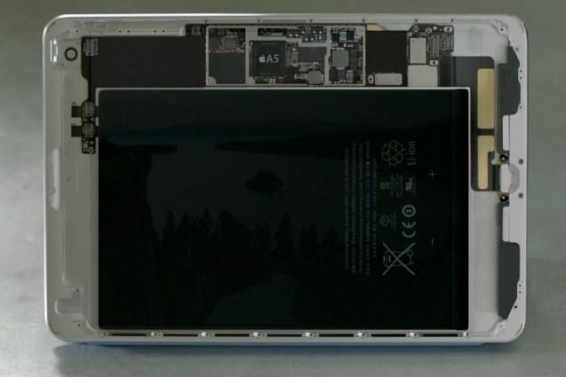 Immagine dell'interno di un iPad Mini