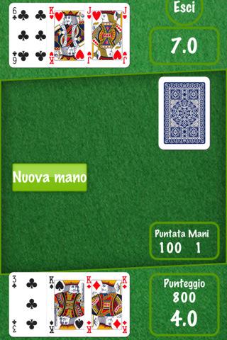 Immagine del gioco di carte Sette e mezzo per iPhone e iPad