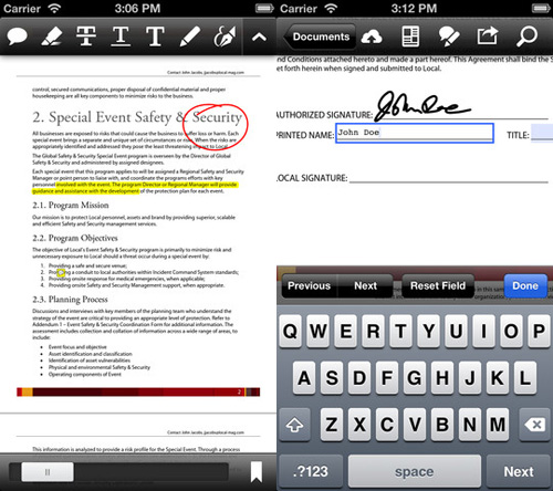 Immagine dell'applicazione Adobe Reader per iPhone e iPad