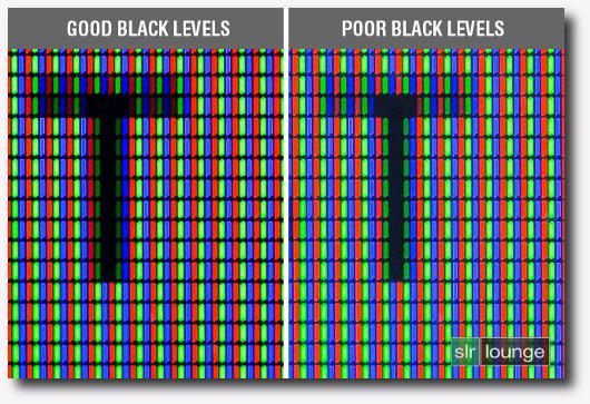 Immagine sui livelli di neri a confronto