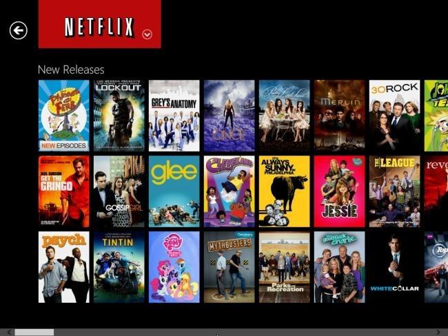 Immagine del sito di Netflix