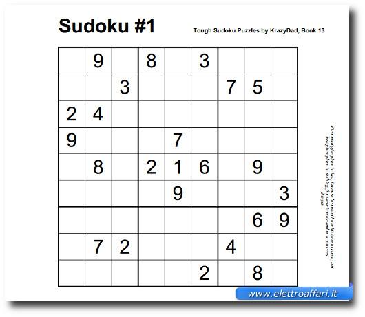 Immagine del sito Krazy Dad per giocare a Sudoku