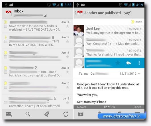 Immagine dell'applicazione Gmail per Android