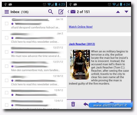 Immagine dell'applicazione Yahoo! Mail per Android
