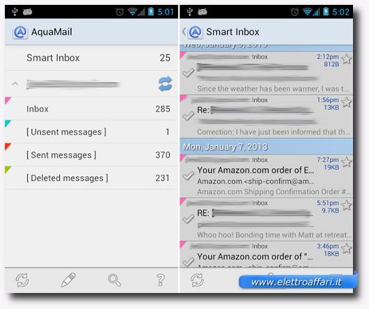 Immagine dell'applicazione Aqua Mail per Android
