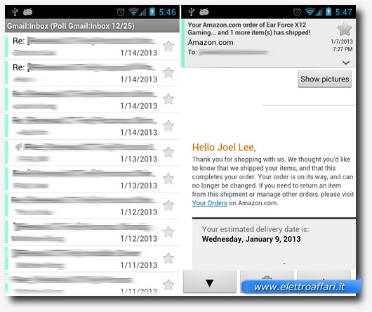 Immagine dell'applicazione K-9 Mail per Android