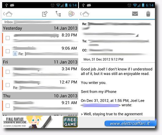 Immagine dell'applicazione MailDroid per Android