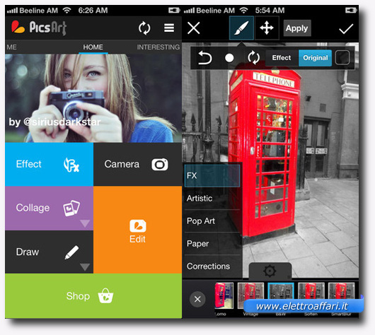 Immagine dell'applicazione PicsArt Photo Studio per iPhone