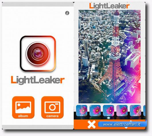 Immagine dell'applicazione LightLeaker per iPhone