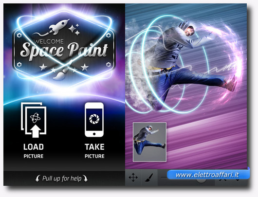 Immagine dell'applicazione Space Paint per iPhone