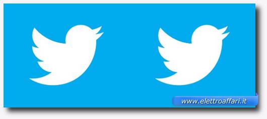 Immagine del logo di Twitter