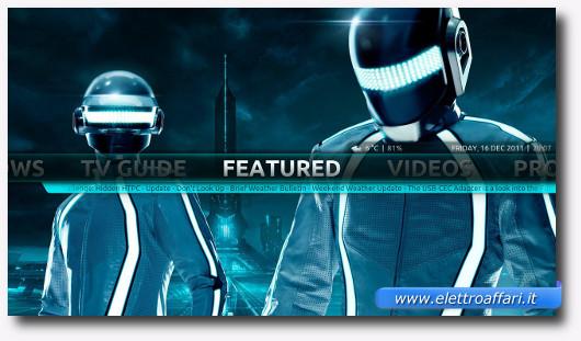Immagine di una schermata di XBMC