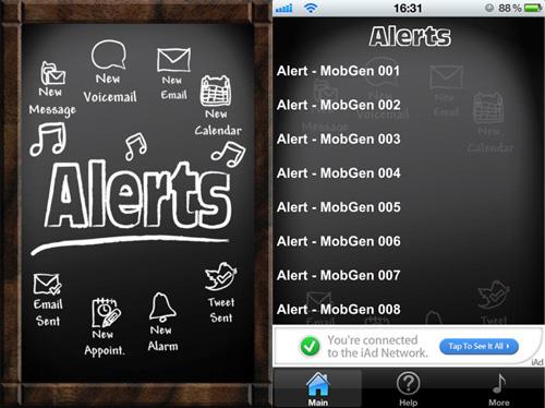 Immagine dell'applicazione 101 Free Alerts per iPhone