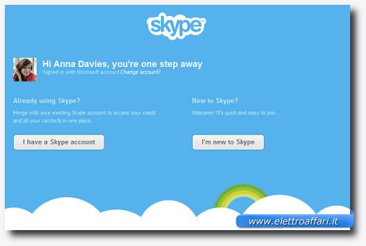 Immagine del programma di messaggistica istantanea Skype