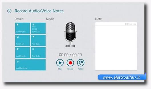 Immagine dell'applicazione Work Notes Pro per Windows 8