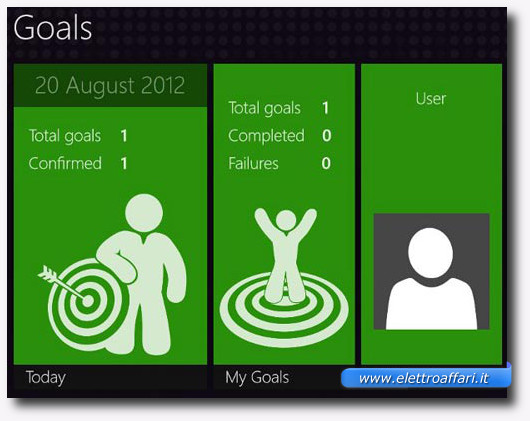 Immagine dell'applicazione Goals per Windows 8