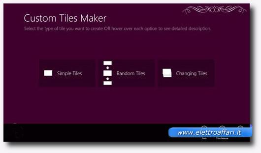 Immagine dell'applicazione Custom Tiles Maker per Windows 8