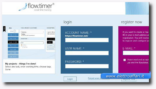 Immagine dell'applicazione Flow.Timer per Windows 8