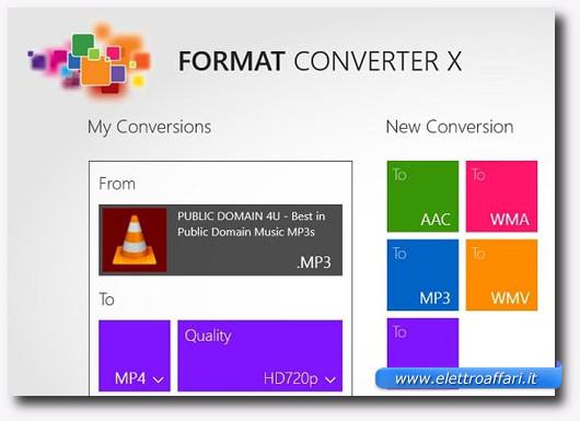 Immagine dell'applicazione Format Converter X per Windows 8