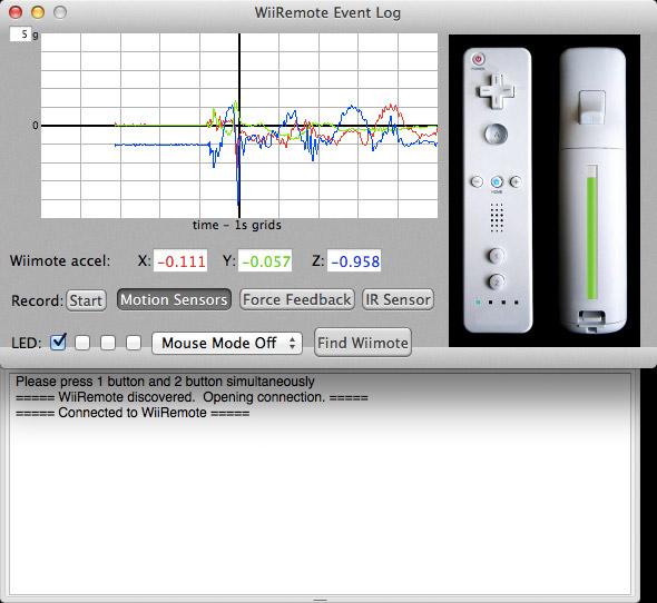 Schermata per collegare il controller Wii con il Mac