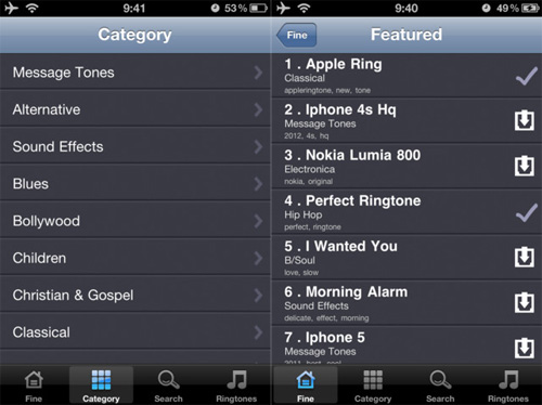applicazione Free Ringtone By GoodTimes per iPhone