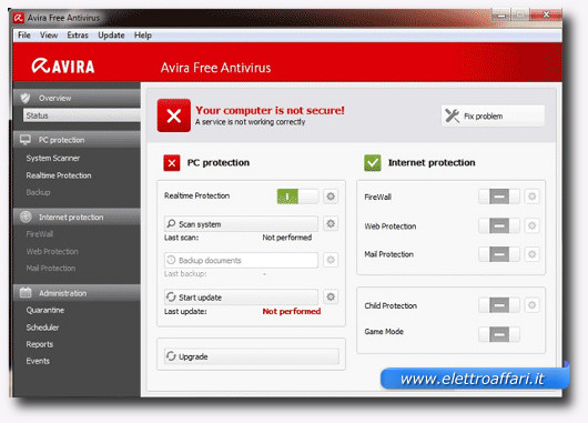 Immagine dell'antivirus gratis Avira Free Antivirus