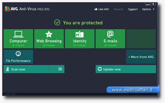 Immagine dell'antivirus gratis AVG Free Antivirus