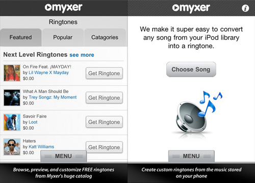 Myxer Ringtones per iPhone