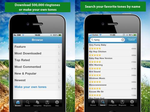 Immagine dell'applicazione Ringtone+++ per iPhone