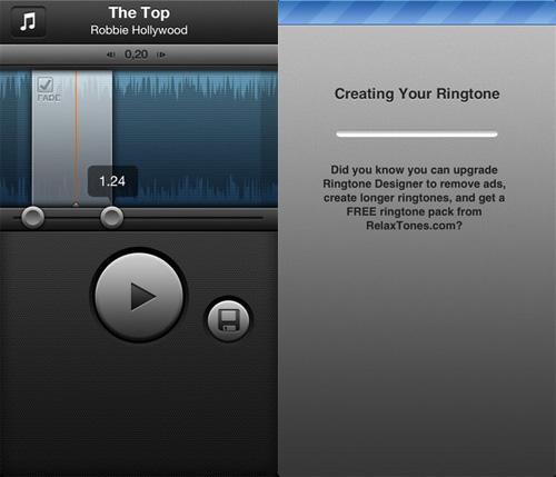 Immagine dell'applicazione Ringtone Designer per iPhone