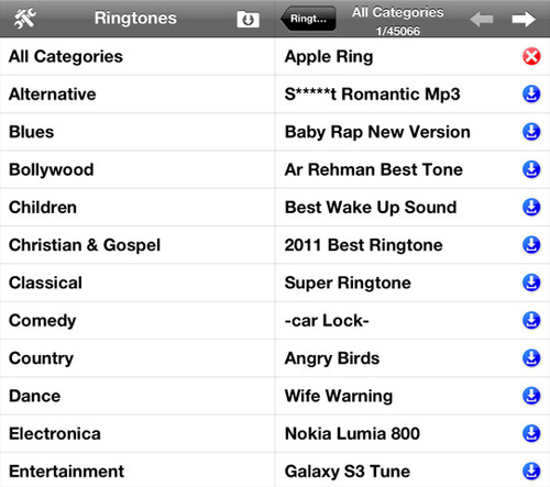 Ringtones 700000+ per iPhone