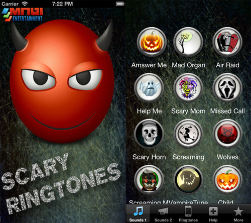 applicazione Scary Ringtones per iPhone
