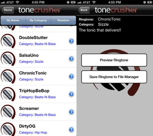 Immagine dell'applicazione ToneCrusher per iPhone