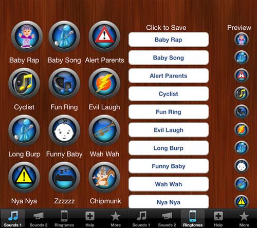 applicazione Top Funny Ringtones per iPhone