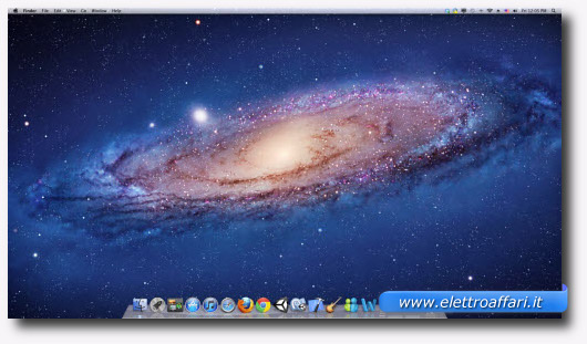 Immagine del desktop di un Mac