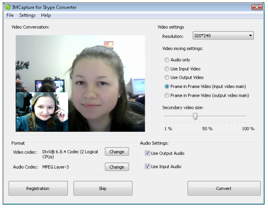 Immagine del software IMCapture for Skype