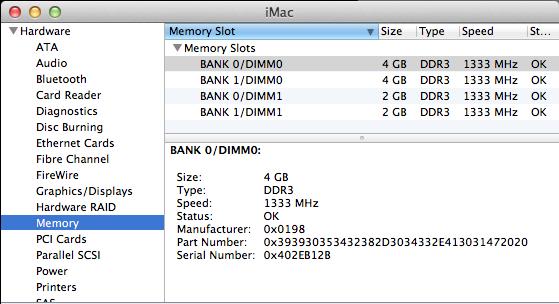 Schermata di informazioni del Mac