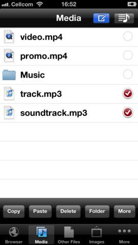 Schermata dell'applicazione MyMedia per salvare PDF