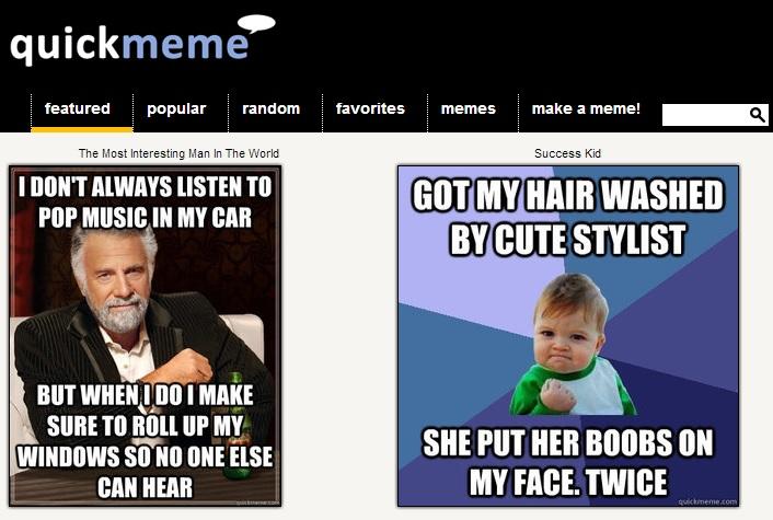 Immagine del sito Quickmeme