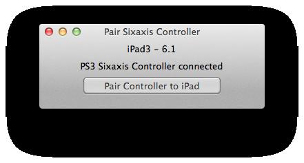 Schermata di avvenota connessione del controller PS3