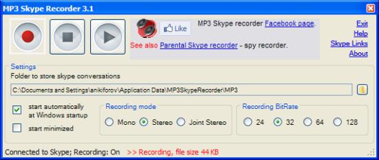 Immagine del software Voip Call Recording