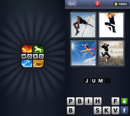 Immagine del gioco 4 Pics 1 Word per iPhone e iPad